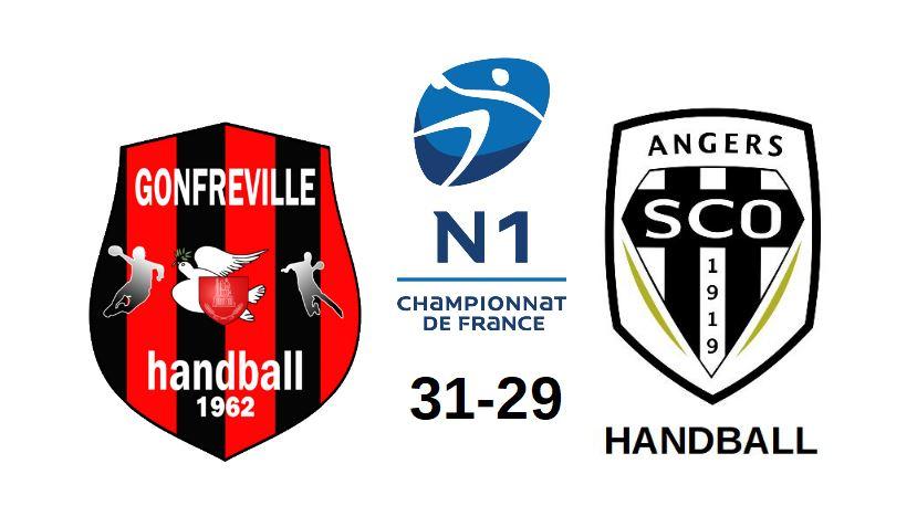 N1 (2e journée) : Angers SCO n'a pas tenu la distance à Gonfreville (31-29).