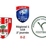 R1 U19 (3e journée) : Malgré le vent et la pluie, la Vaillante d'Angers s'impose à Vertou (2-0).