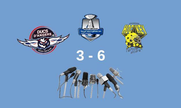 Ligue Magnus (29e journée) : Les réactions d'après-match d'Angers – Strasbourg (3-6).