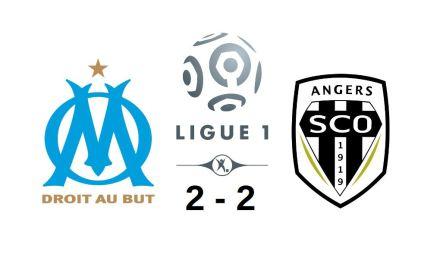 Ligue 1 (30e journée) : Angers SCO arrache le point du match nul à Marseille (2-2).