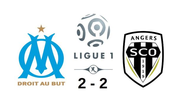 Ligue 1 (30e journée) : Angers SCO arrache le point du match nul à Marseille (2-2).