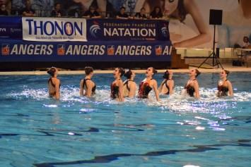 Angers Nat Synchro pendant leur épreuve de combinés (Photo : Jimmy Joubert)