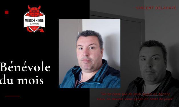 Mûrs-Érigné Basket Club : Le bénévole du mois de janvier avec Vincent DELAHAYE !