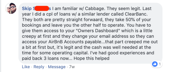 Airbnb host capital