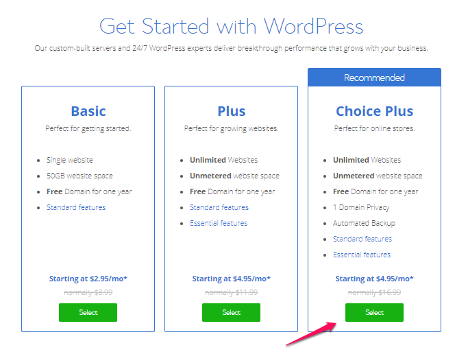 How to Buy Hosting from Bluehost