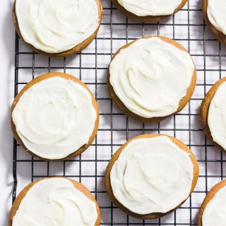 Gluten Free Gingerbread Cookies with Cream Cheese Frosting
