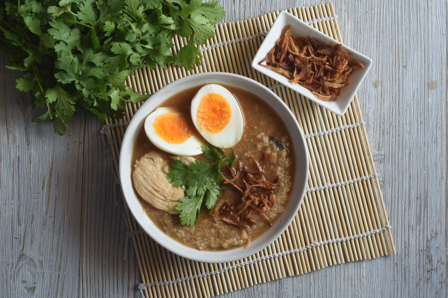 Brown Rice Congee in Bone Broth | Recipe
