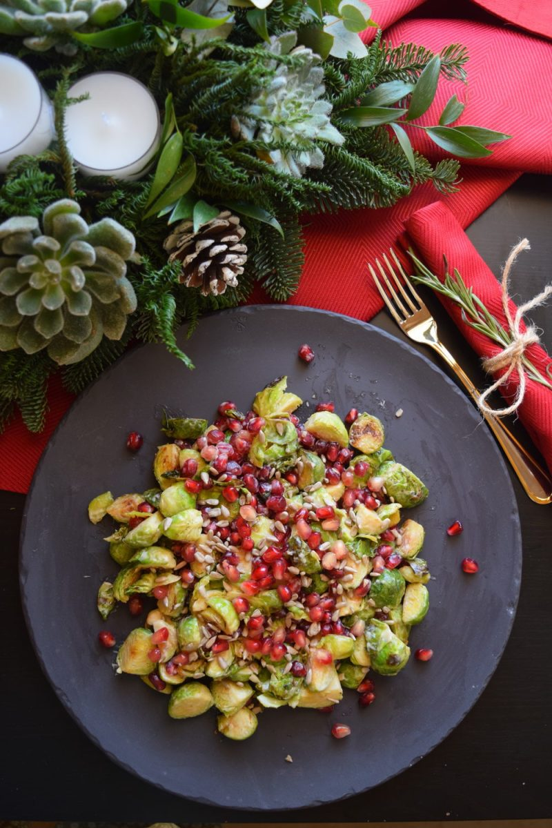 Brussel Sprouts and Pomegranate Salad in De'Longhi Multifry