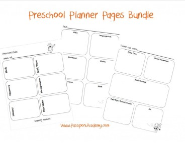 Homeschool planner pages