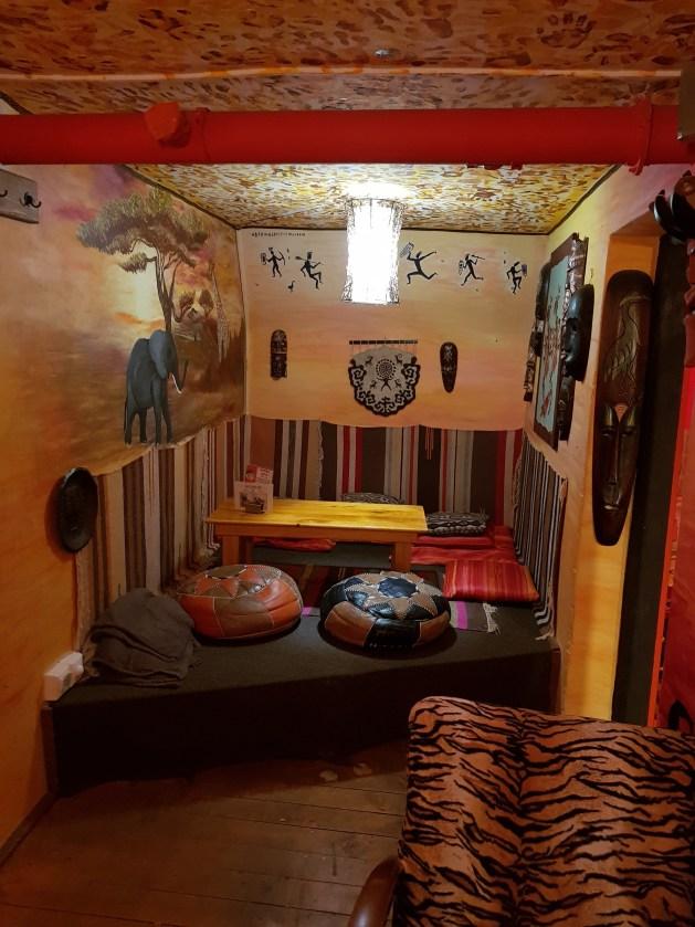 48 hours in Bratislava. African decorated room in the Underground Tea Rooms