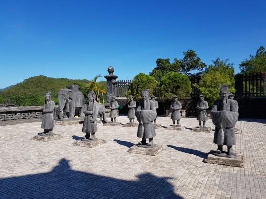 Hue to Da Nang: Carved figures at Khai Dink Mausoleum