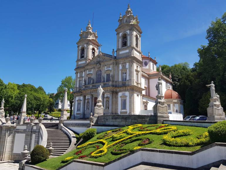 A view of Bom Jesus do Monte and the gardens