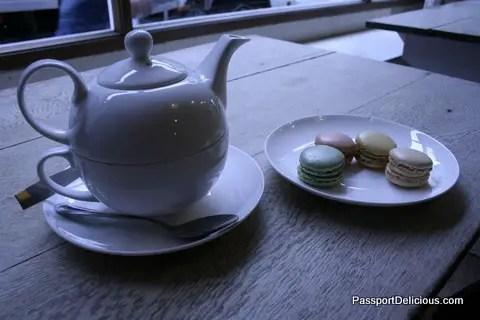 Tea and Macarons at Yumchaa