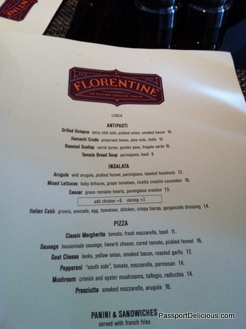 Florentine Menu