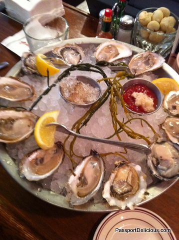 Oysters at Shaws Oyster Bar