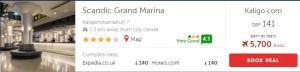 Kaligo.com Pricing for Scandic Grand Marina