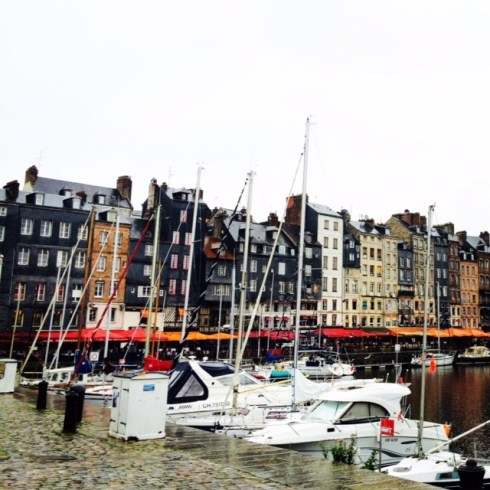 Honfleur was where we overnighted on our drive from St. Malo to Caen.