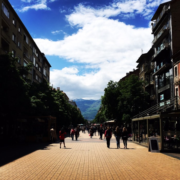 One of the best things to do in Sofia is just hang out on on Vitosha Boulevard