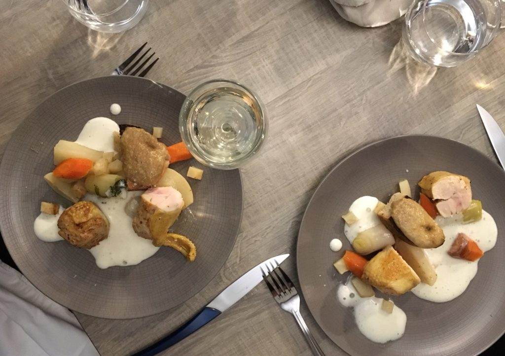 Chicken Supreme for two at Au Ptit Bistro in Bayeux