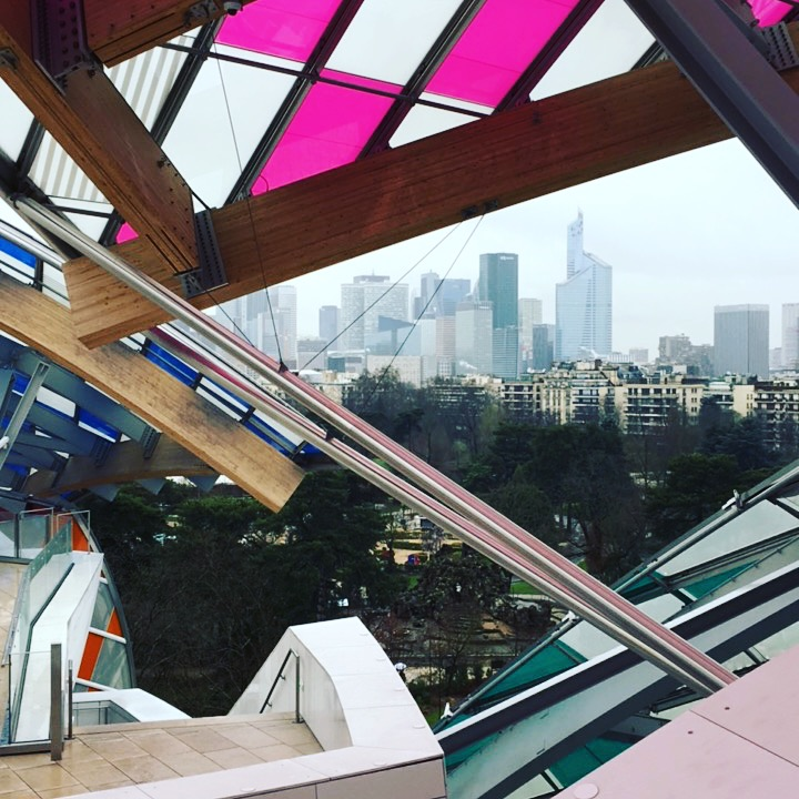 The view from Foundation Louis Vuitton
