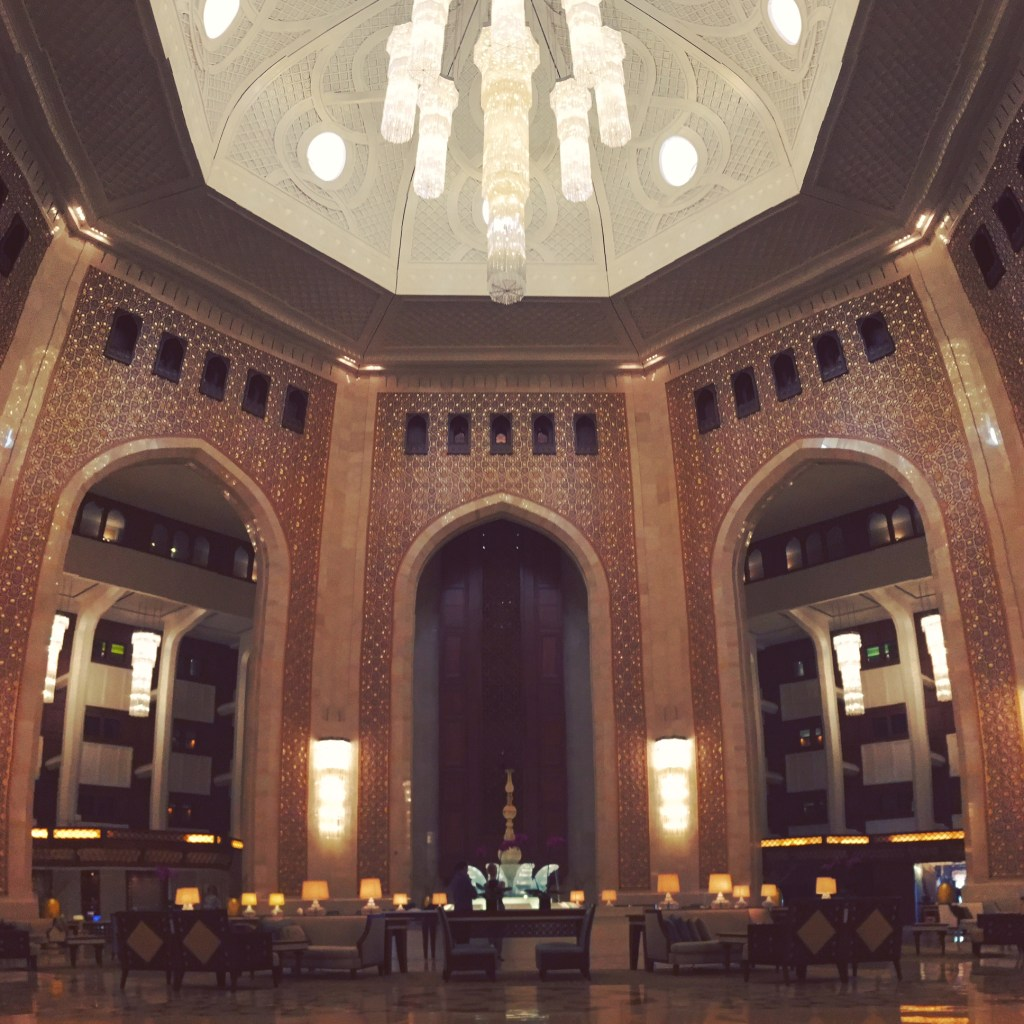 My Weekend in Oman: The Lobby of Al Bustan
