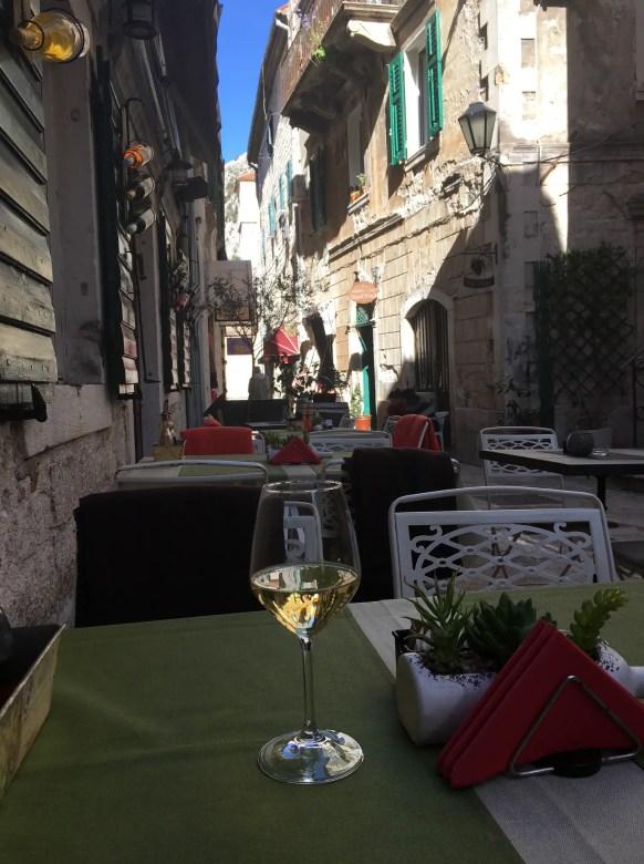 Wine in Kotor old town