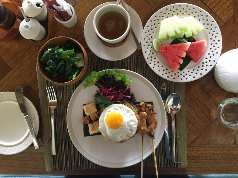 The amazing breakfast at Bisma Eight