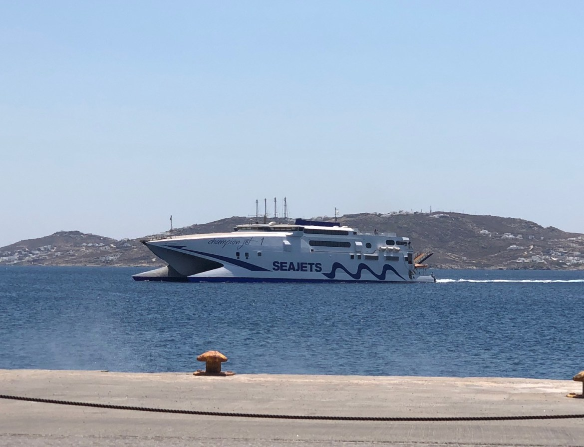 There are plenty of ferries to help you out with Cyclades island hopping.