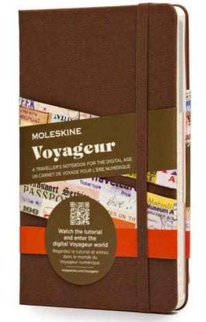 The Moleskine Voyageur is a very popular travel journal.