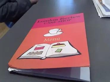 London review menu