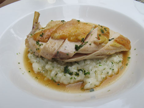 Cafe a vin chicken and risotto