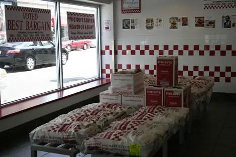 Five guys potatoes sacks