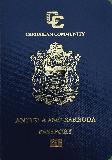 Passport cover of Antigua and Barbuda