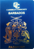 Passport cover of Barbados