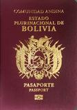 Passport cover of Bolivia