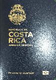 Passport cover of Costa Rica