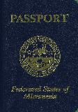 Passport cover of Micronesia