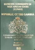 Passport cover of Gambia