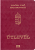 Passport cover of Hungary