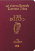 Passport cover of Ireland