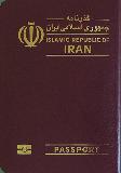 Passport cover of Iran