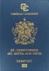 Passport cover of Saint Kitts and Nevis MOST POWERFUL PASSPORT RANK