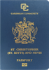 Passport cover of Saint Kitts and Nevis