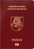 Passport cover of Lithuania