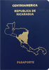 Passport cover of Nicaragua