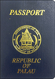 Passport cover of Palau