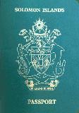 Passport cover of Solomon Islands