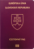 Passport cover of Slovakia