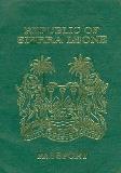 Passport cover of Sierra Leone