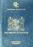 Passport cover of Suriname